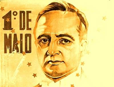 Propaganda oficial em que Vargas anuncia sua participação nas comemorações do Dia do Trabalhador