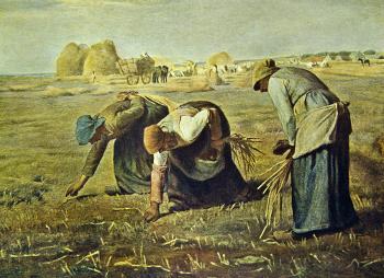 """As respigadoras"", 1857, Jean-François Millet. As sociedades medievais tradicionais estavam dispostas sob a lógica da solidariedade mecânica"