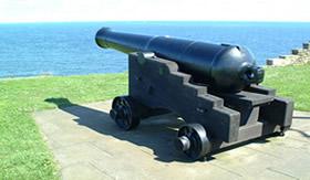 A pólvora era usada como munição em canhões
