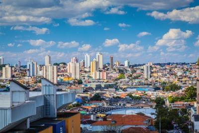 Vista aérea da cidade de São Paulo, uma das maiores áreas conurbadas do mundo