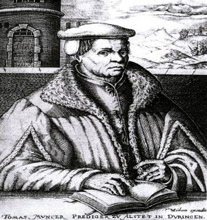 Gravura de Thomas Müntzer (1488-1525)