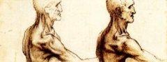 Ilustrações anatômicas feitas por Leonardo Da Vinci.