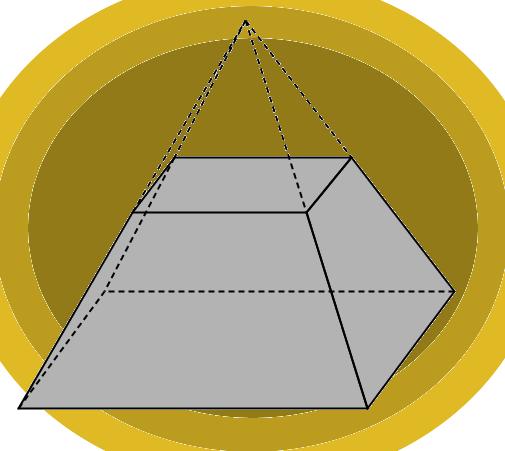 Pirâmide que sofreu uma secção transversal