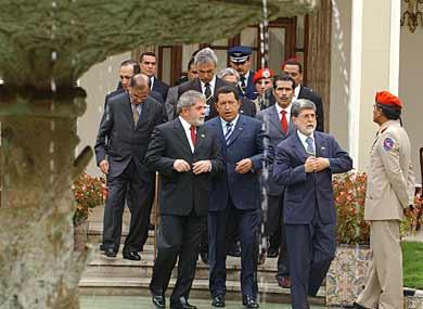 Alguns dos líderes da América Latina