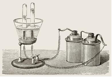 Equipamento de eletrólise em meio aquoso