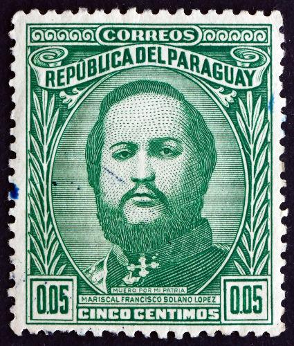 Francisco Solano López, presidente e ditador do Paraguai durante o período da Guerra do Paraguai*
