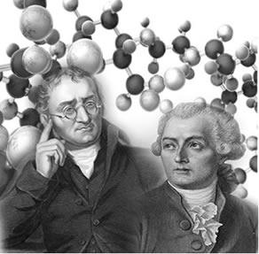 A teoria atômica criada por Dalton conseguiu explicar microscopicamente a lei criada por Lavoisier