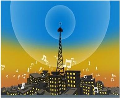 As emissoras de rádio e TV emitem ondas eletromagnéticas com potências de centenas de kW