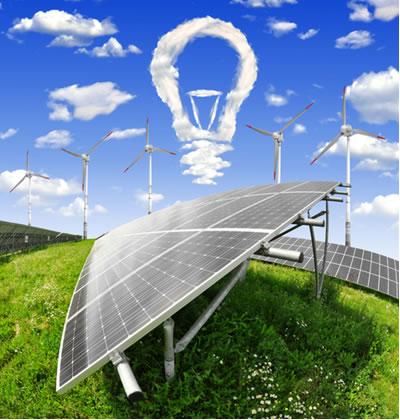 A energia eólica e a energia solar são exemplos de fontes de energia limpa