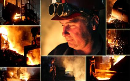 A obtenção de ferro e de aço é feita em indústrias siderúrgicas