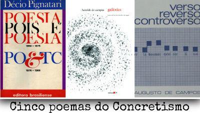 Décio Pignatari e os irmãos Haroldo e Augusto de Campos foram os principais representantes da poesia concreta no Brasil