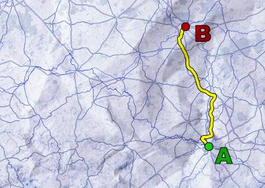 Distância entre dois pontos em um mapa