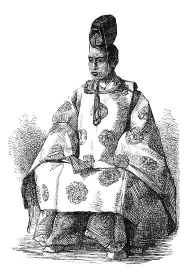 Na imagem, o xogum Keiki, o último xogum existente no Japão
