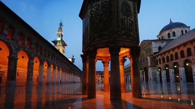 "Mesquita Umayyad, ou a ""Grande Mesquita"", construída pelos Omíadas"