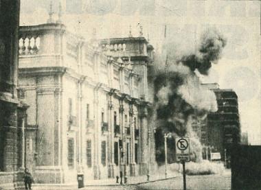 Atentado ao Palácio de La Moneda, Chile, em 1973 ¹