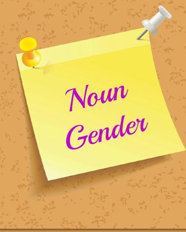 Gênero do substantivo em inglês