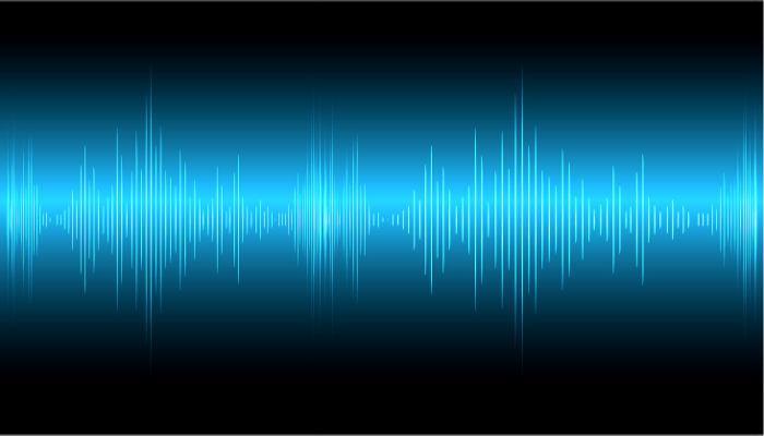 A figura acima mostra a intensidade de uma onda sonora em relação ao tempo.