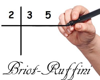 Utilize o dispositivo prático de Briot-Ruffini para realizar divisões entre polinômios