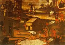 Pintura anônima do século XVIII, representando a Guerra dos Emboabas
