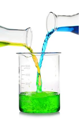 Mistura entre soluções com o mesmo solvente (água) e solutos diferentes