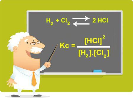Expressão que pode ser utilizada para calcular a constante de um equilíbrio