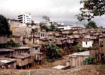 Habitações típicas de países de Terceiro Mundo.