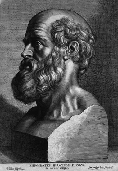 Hipócrates de Cós, considerado o pai da medicina ocidental