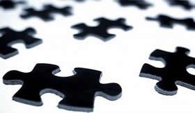 Formação de polímeros: montagem de um quebra-cabeça.