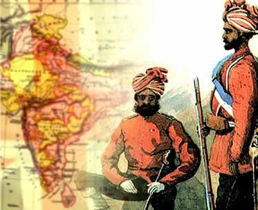 Os cipaios se voltaram contra as exigências impostas pelas autoridades britânicas na Índia.