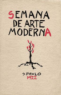 Capa do programa da Semana de Arte Moderna de 1922, autoria de Di Cavalcanti