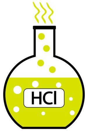 Quando adicionado à água, o ácido clorídrico sofre ionização