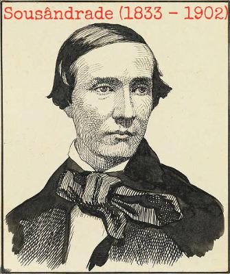 Sousândrade foi um escritor brasileiro da terceira geração romântica e autor de Guesa errante, publicado em 1888