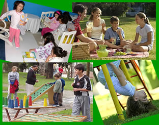 Noite de pijama, piquenique e parque de diversões são ótimas atividades