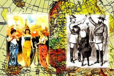 Tríplice Entente x Tríplice Aliança: os dois lados da Primeira Guerra Mundial.