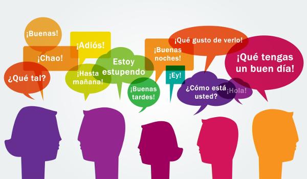Na imagem, há algumas formas de saudações e despedidas na língua espanhola