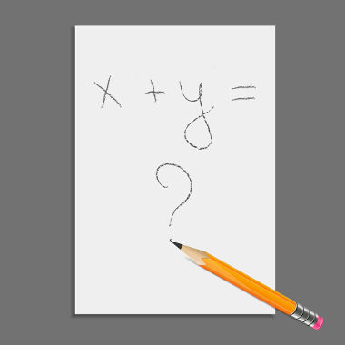 Equações: expressões que contêm números conhecidos, números desconhecidos e uma igualdade