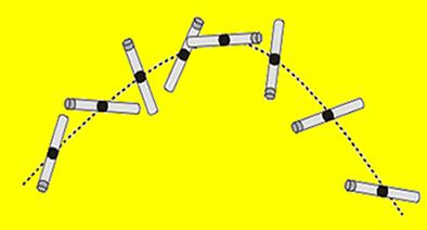Ao ser lançada, a barra de ferro possui movimento de rotação e translação