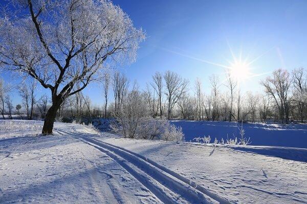 O inverno é a estação que apresenta as menores médias de temperatura