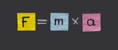 Equação original da Segunda lei de Newton