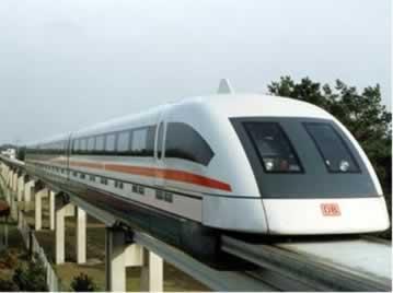 O comboio de trens Maglev se baseia nos princípios da levitação magnética