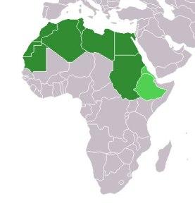 A África Islâmica corresponde às partes destacadas.