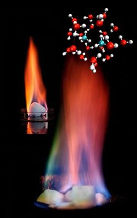 O gelo pegando fogo é na verdade um hidrato, cuja chama é alimentada pelo gás metano