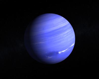 Netuno, um planeta do sistema solar.