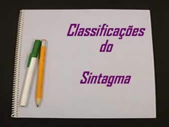 Classificações do sintagma