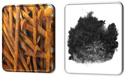 A superfície de contato da palha de aço é maior, por isso ela enferruja mais rápido que o prego