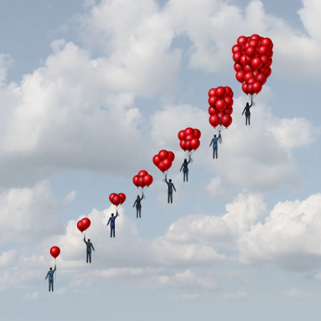O número de balões na figura pode ser compreendido como uma sequência numérica