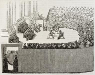 A reunião do Concílio de Trento foi importante para o processo de ação contrarreformista da Igreja Católica