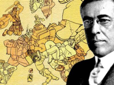Woodrow Wilson ofereceu um acordo interessado em evitar outras grandes guerras.