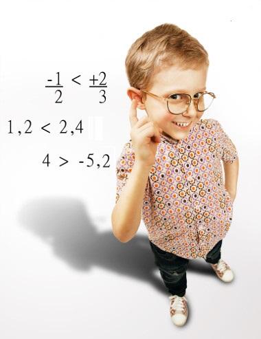 Para comparar números racionais, podemos utilizar o símbolo de maior (>) e menor (