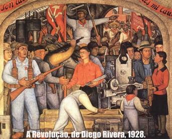 O Muralismo se transformou na arte revolucionária durante a Revolução Mexicana